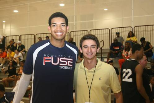 June 2013: I interviewed NBA star Karl-Anthony Towns at the Mary Kline Classic.